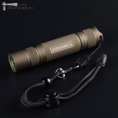 Светодиодный фонарь Convoy S2+ XP-L HI 1000-Люмен 1-12 режимов 1x18650