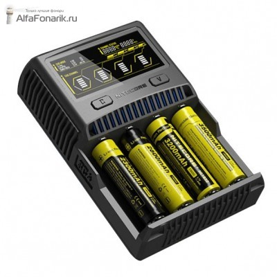 Универсальное зарядное устройство Nitecore Intellicharger SC4 Li-Ion, LiFePO4 и Ni-MH